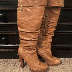 Jessica Simpson Tall Heel Boots Cognac